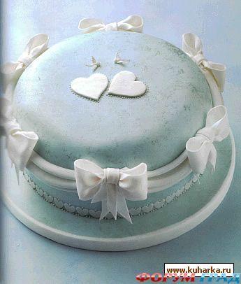 Как украсить из мастики новогодний торт