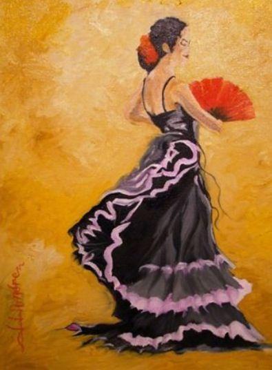 78 best danseuse images on pinterest - Peinture danseuse de flamenco ...