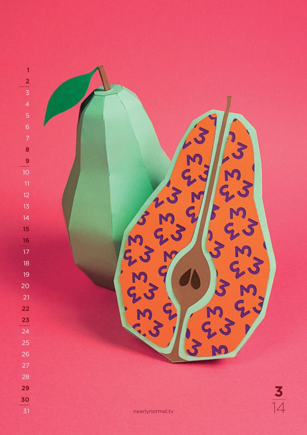 Paper Fruit & Pattern Design :: 2014 Calendar by Nearly Normal | Minimo Graph