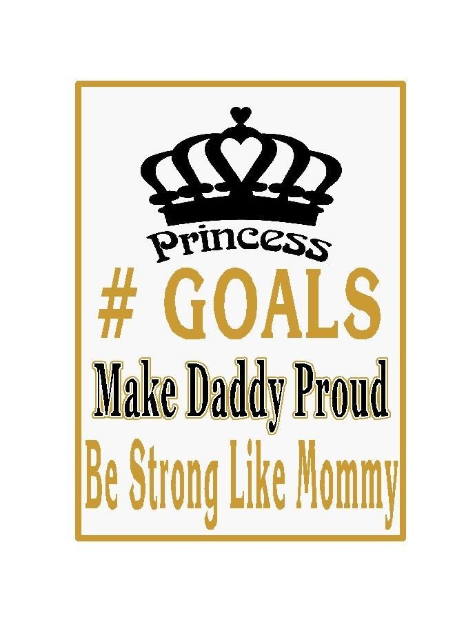 Daddy's Little Princess Custom iron on transfer decal Personalize T
