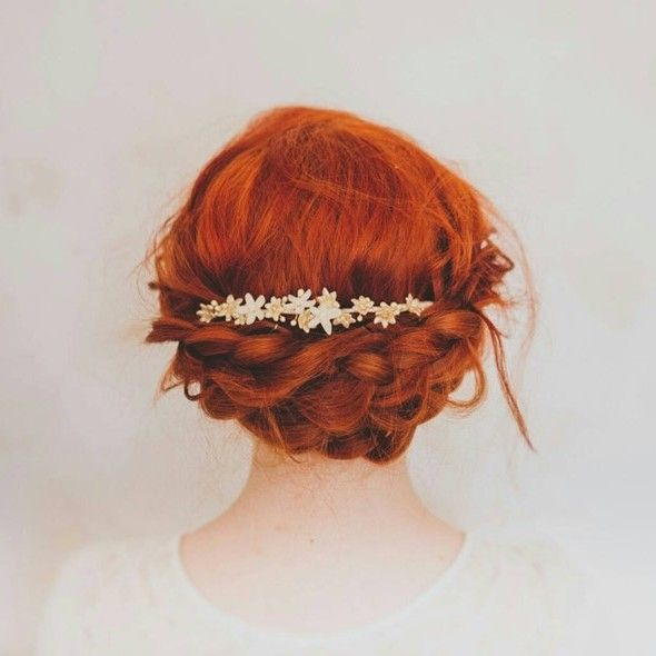 Beautiful bridal crownss crafted from delicate flowers of wax from the Victorian era to the 1960s. The perfect bridal headpiece for a modern vintage bride.