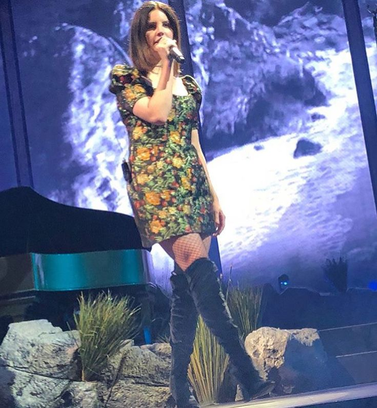 Lana Del Rey performing in Dallas, Texas on February 8, 2018