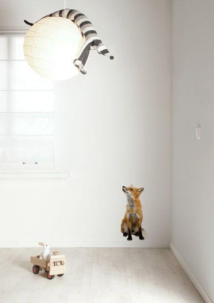 Muursticker dieren vos Forest Friends Fox.