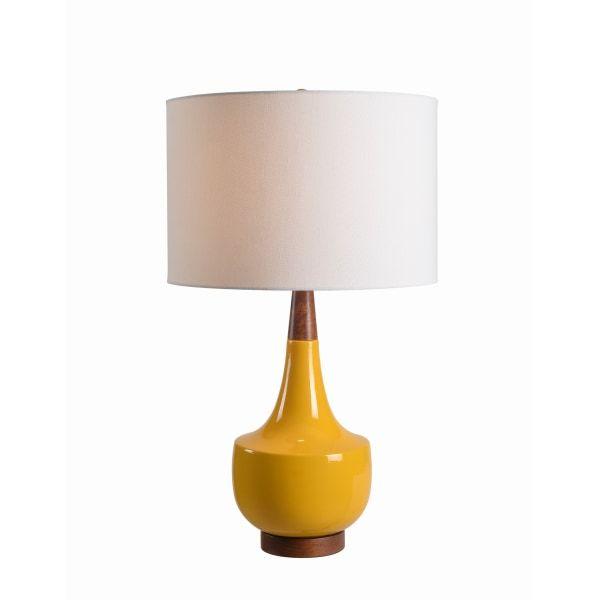 Kenroy Home Tessa Table Lamp 16 1 8 H Mustard Yellow Table Lamp Table Lamp Lamp