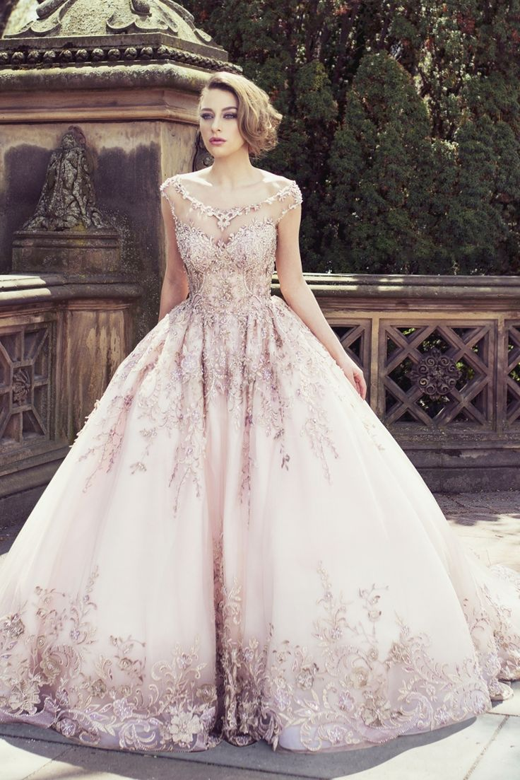 Utterly blown away by this gorgeous rose gold bridal gown from YSA Makino!