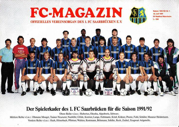 II. BL 91/92 1. FC Saarbrücken - SV Waldhof Mannheim, 23.07.1991