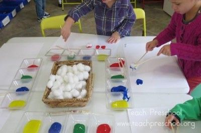 Pintar com pauzinhos chineses.Tutorial em: http://www.teachpreschool.org/2014/02/chopstick-painting/#comment-112292 Chopstick painting by Teach Preschool