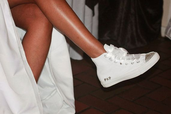 Custom Converse Wedding Shoes Chuck Taylor All by CoutureConverse