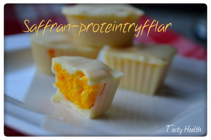Tasty Health: Saffrans-proteintryfflar
