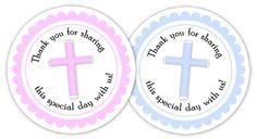 Homemade Baptism Favors, Free Baptism Printable Favor Tags | Diva Entertains Blog