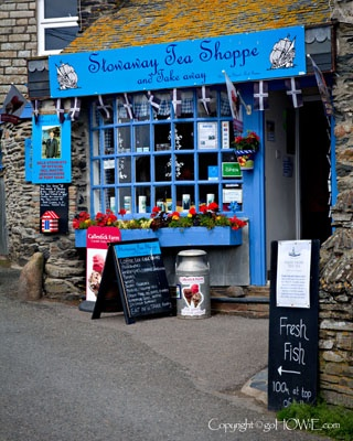 Little old tea shop in Cornwall . UK