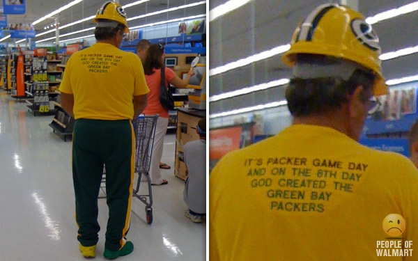 and on the 8th day, God created the Green Bay Packers!  yes...just yes!