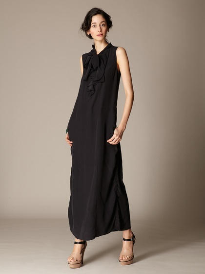 Marni Silk Tie Neck Ruffle Front Maxi: Style Woman, Easy Style, Front Maxi, Beautiful Clothes, Ruffle Front