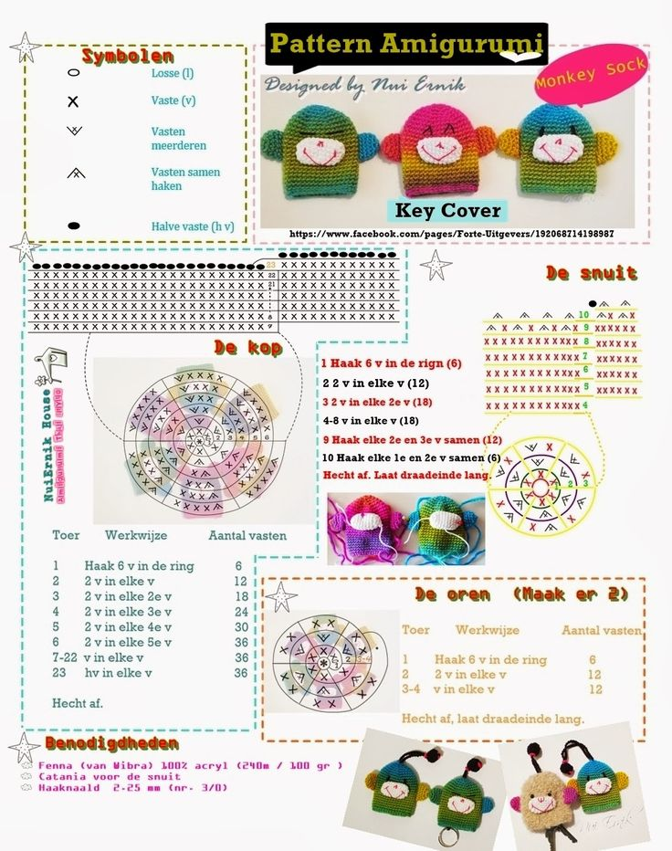Amigurumi Thai Style: Free Pattern key cover