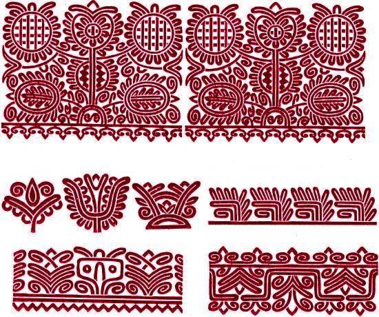 """Kalotaszegi \""""írásos\"""" varrotas minták -- Embroidery designs from Kalotaszeg"""