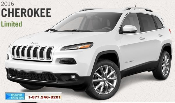 2016 Jeep Cherokee Limited available in stock with different makes & models at Scarsview Chrysler.