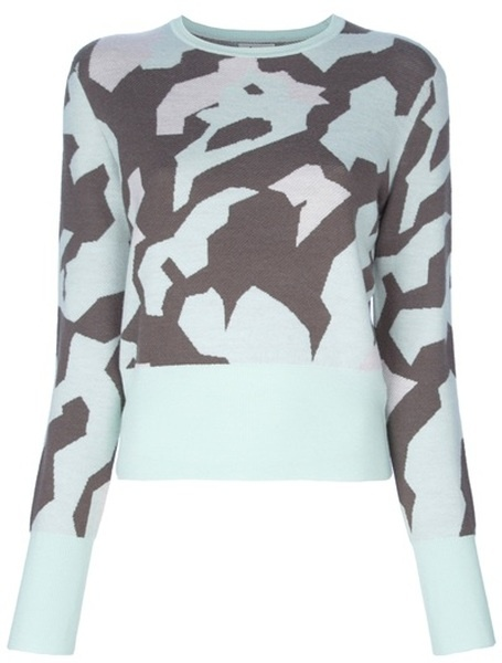 ACNE Cropped Camouflage Jumper