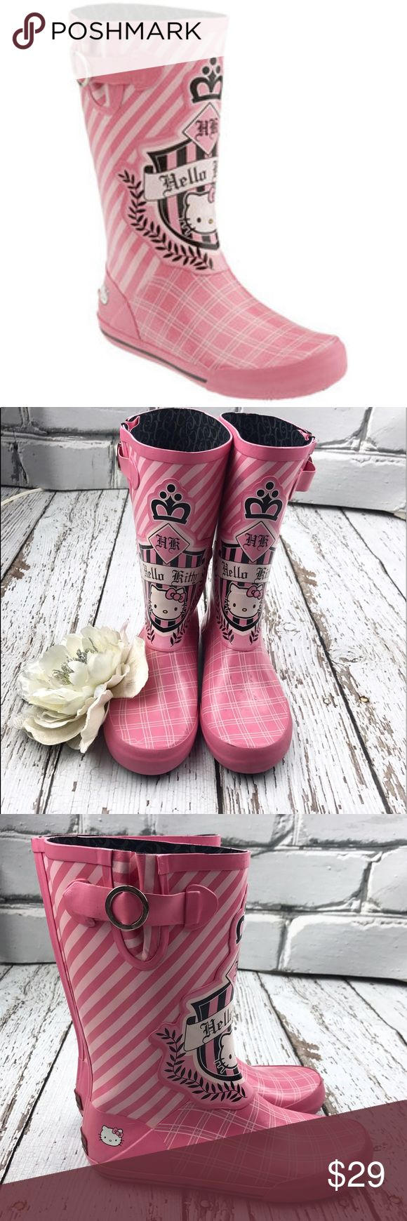 💕SALE💕 Chooka Hello Kitty Pink Rain Boots Adorable 💕 Chooka Hello Kitty Pink Rain Boots 100% Waterproof thin cotton lining removable insoles Super cute for summer rains Chooka Shoes Winter & Rain Boots