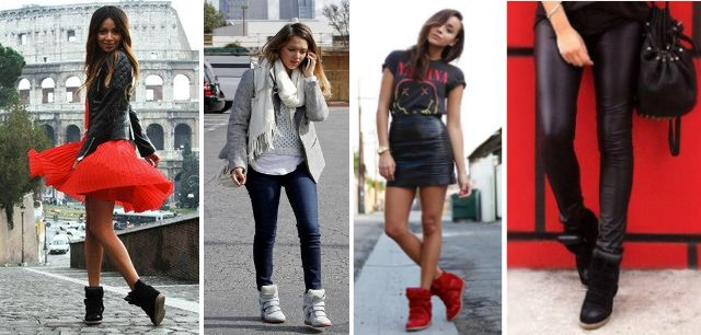 Outfits with wedge sneakers