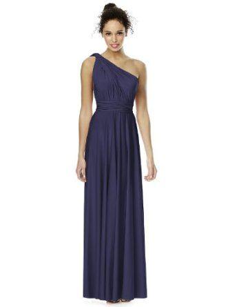 dessy's twist wrap dress