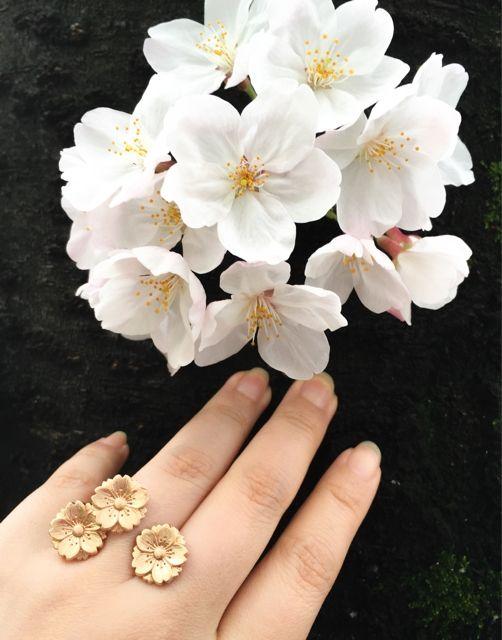 Sakura\(^o^)/Handcrafted 18K Cherry Pink Gold