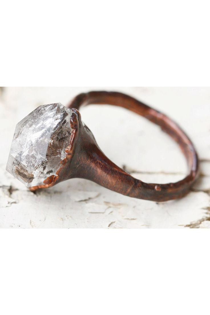Unique Engagement Ring, Promise Ring for Her: stone promise ring alternative quartz wedding rings, raw quartz ring, quartz crystal ring boho by LittleSycamore on Etsy https://www.etsy.com/listing/267475104/unique-engagement-ring-promise-ring-for
