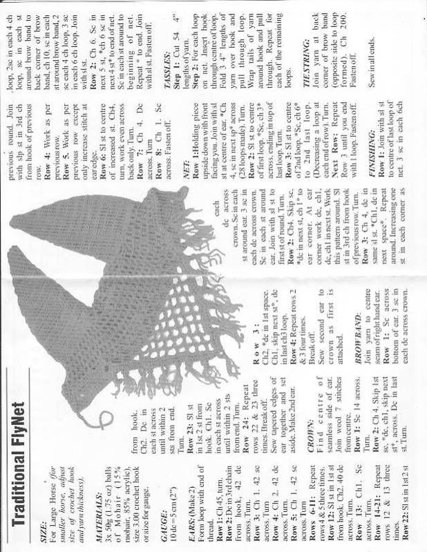 crochet pattern for flynet