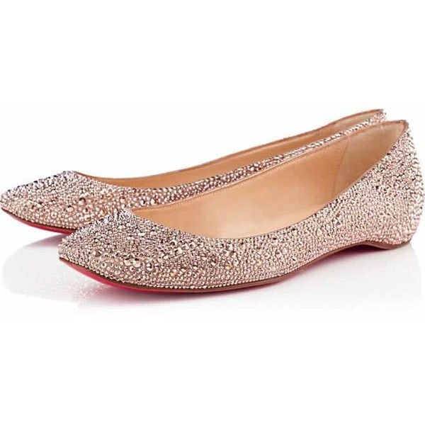 christian louboutin body strass flat ballerinas shoes pouder