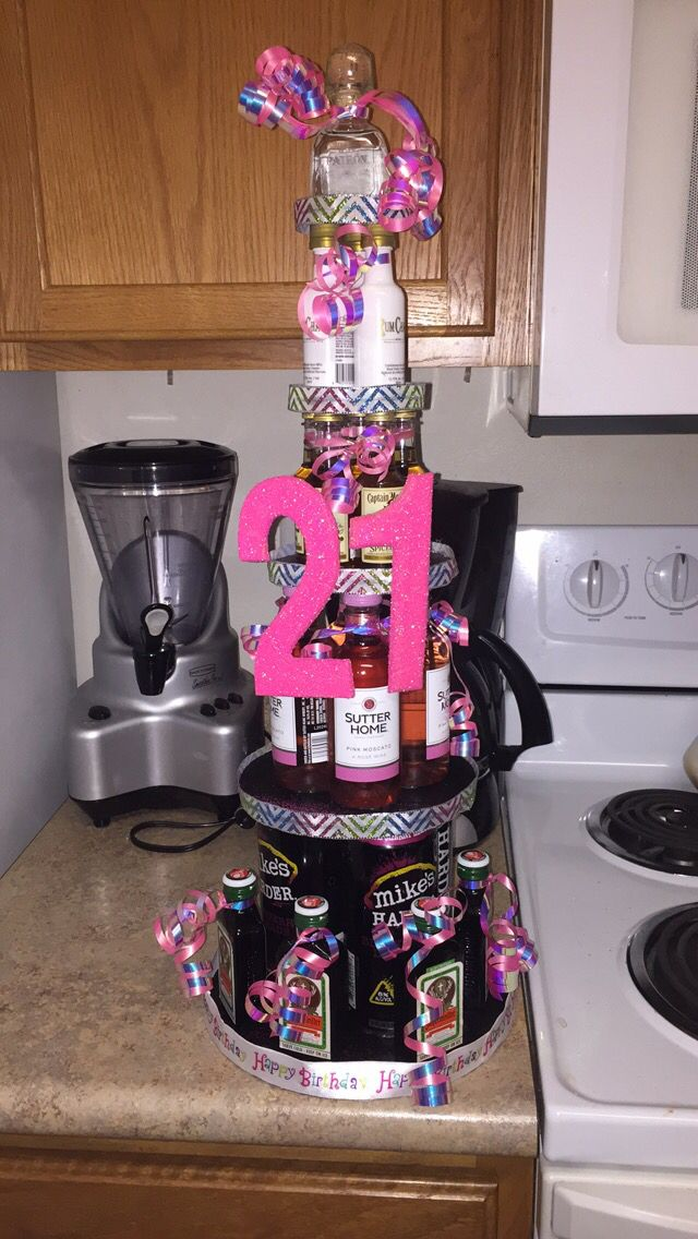 21st Birthday Alcohol Quot Cake Quot Very Easy To Make 21st