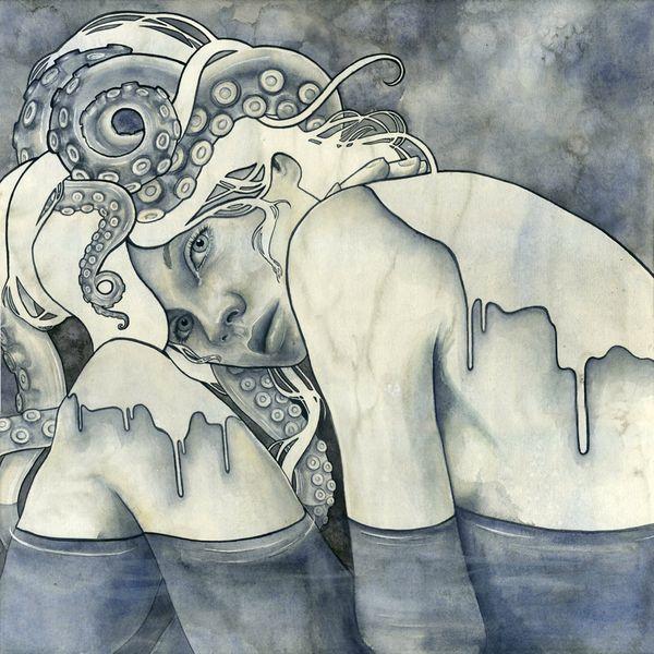 "New Work from ""Willful Wiles"" by Kelly McKernan: Art Inspiration, Illustrations, Kelly Mckernan, Tentacle, Artsy Fartsy, Artist, Octopus, Drawing"