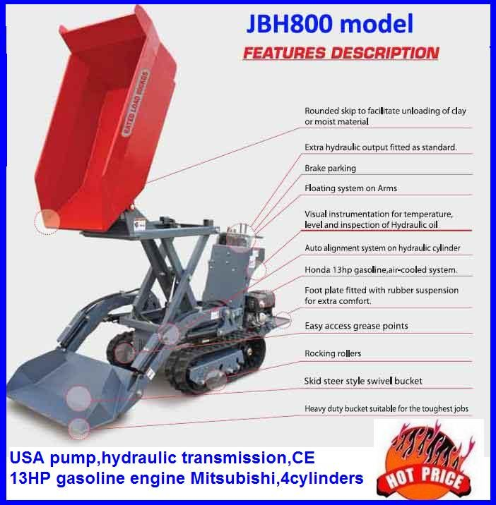 JBH800 dumper with Honda or B&S engine,with CE,EPA