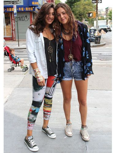 """Soho Style  """"These ladies were walking around in Soho—check out their unique necklaces! Super-cute.""""—Seventeen Style Council Member Samii"""