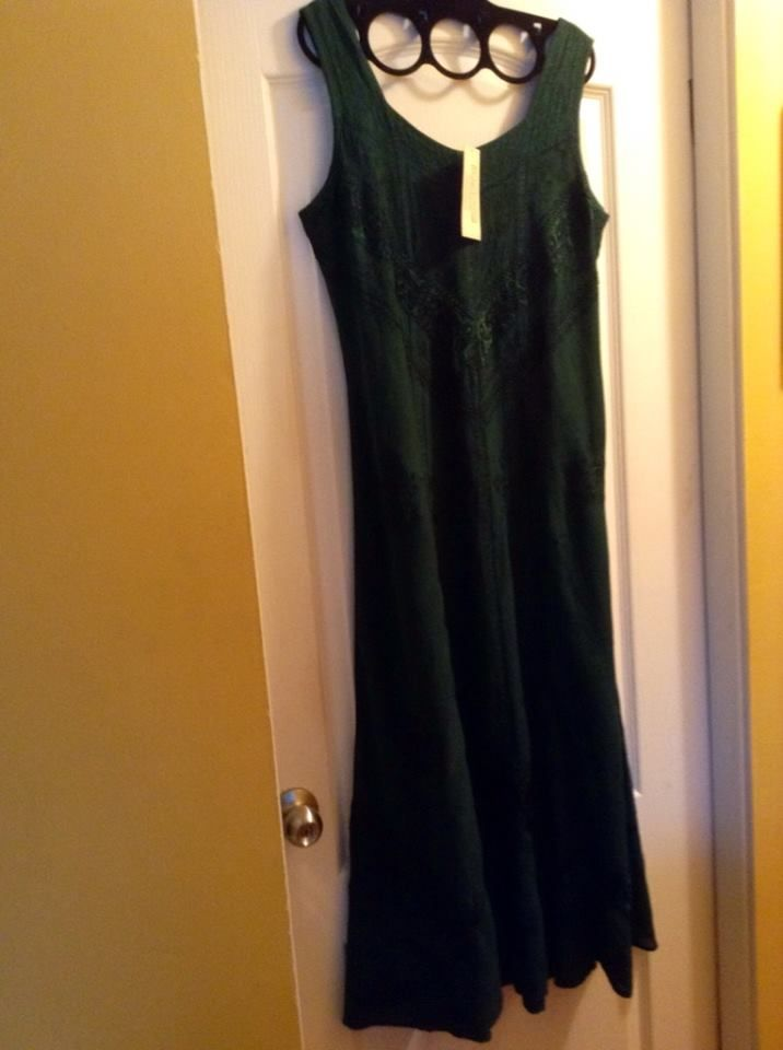 Green Holy Clothing dress, tags still on it. Craigslist, $15.00.