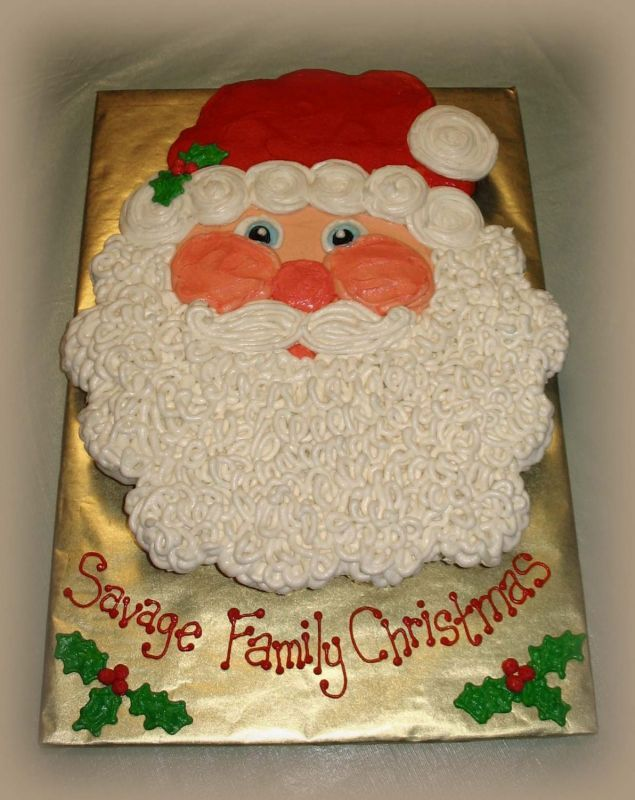 cupcake in shape of Santa cake