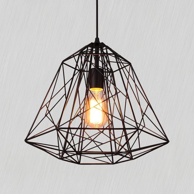 Russia warehouse Creative diamond Pendant Lights Black Iron industrial lamp vintage Loft retro style light bar dinning room lamp-in Pendant Lights from Lights & Lighting on Aliexpress.com | Alibaba Group