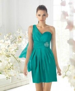 vestidos verde azulado cortos