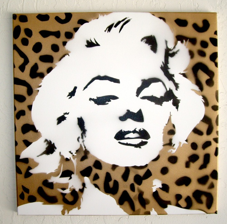 marilyn & leopard ♥ One of my absolute fave art pieces!!! Will someone make this for me?!!