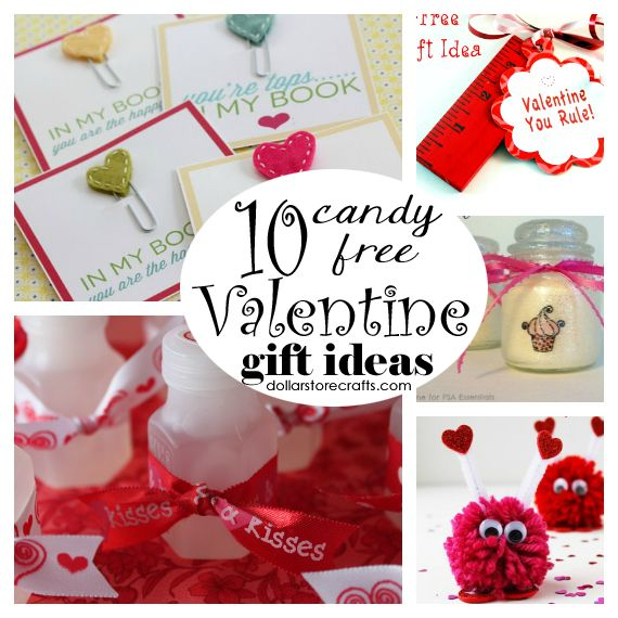 Candy Free Valentines gift ideas from the dollar store.