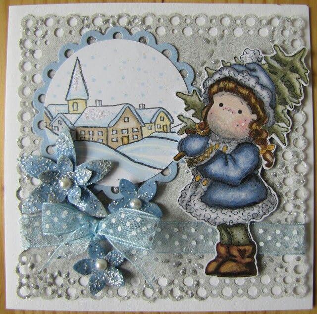 Weihnachts Karte, Magnolia Stamps