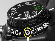 Nikon D7000 release modes.