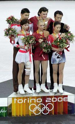 Tatiana Totmianina & Maxim Marinin (🇷🇺), Zhang Dan & Zhang Hao (🇨🇳), and Shen Xue & Zhao Hongbo (🇨🇳)  2006 Torino 🇮🇹