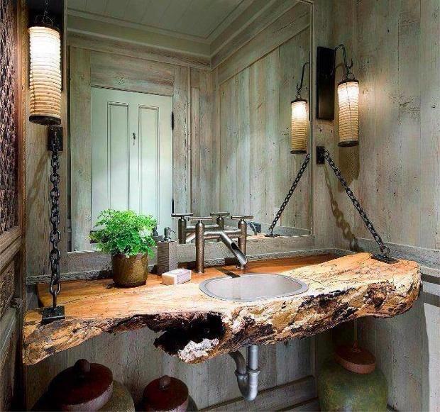 Rustic Country Bathroom Design