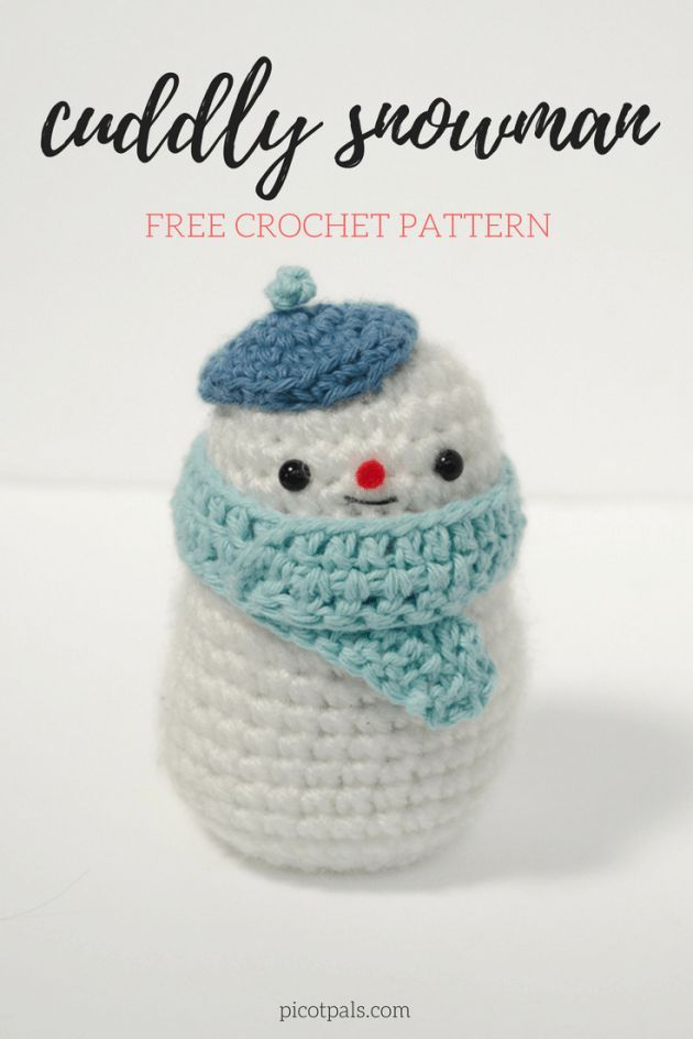 Cuddly Crochet Snowman | Free Crochet Patterns from My Favorite ...