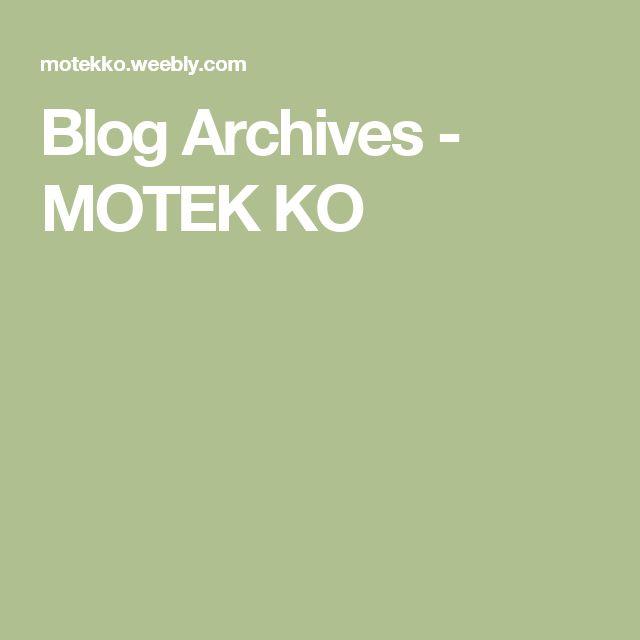 Blog Archives - MOTEK KO