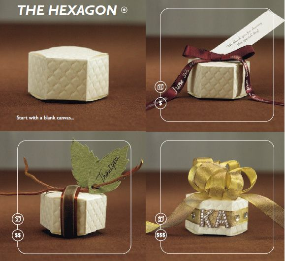 Hexagon Favor Box Ideas