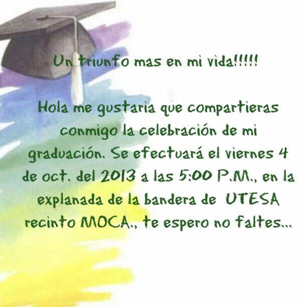Invitaciones En Espanol Para Graduacion De High School