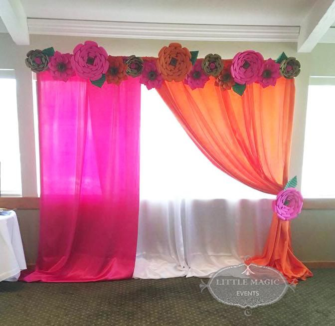 The 25 best half saree function ideas on pinterest for Baby shower function decoration
