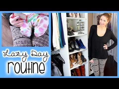 Lazy Day Makeup Routine, Outfit & Activities! - YouTube