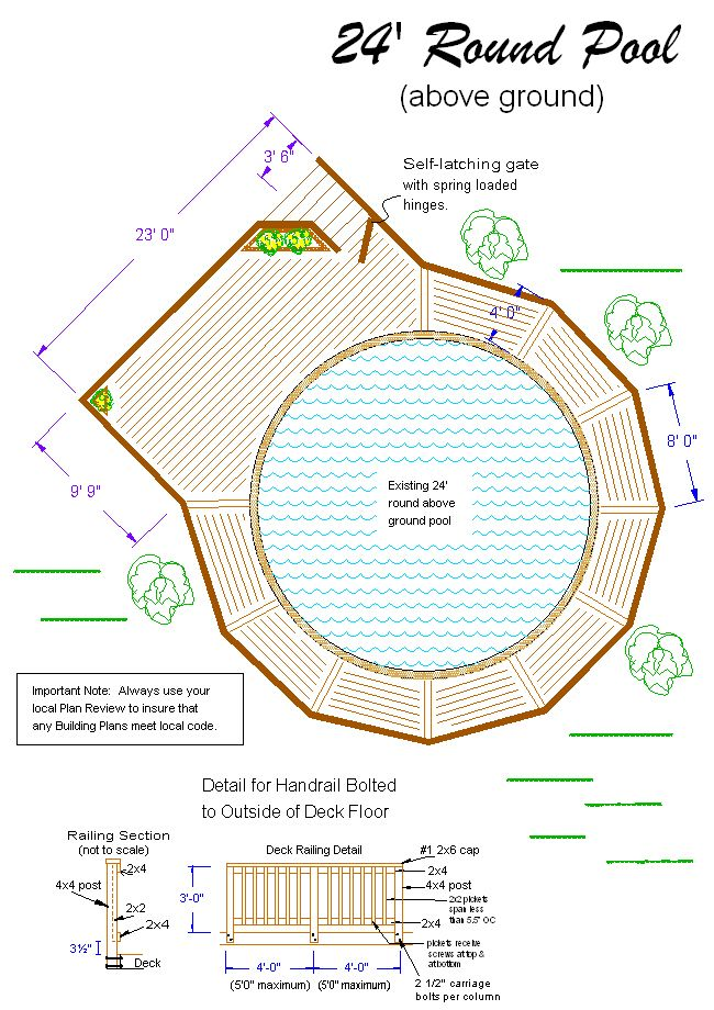 Stunning Above Ground Pool Deck Plans 650 x 920 · 559 kB · jpeg
