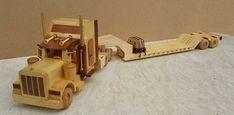 Peterbilt sleeper truck and lowboy trailer